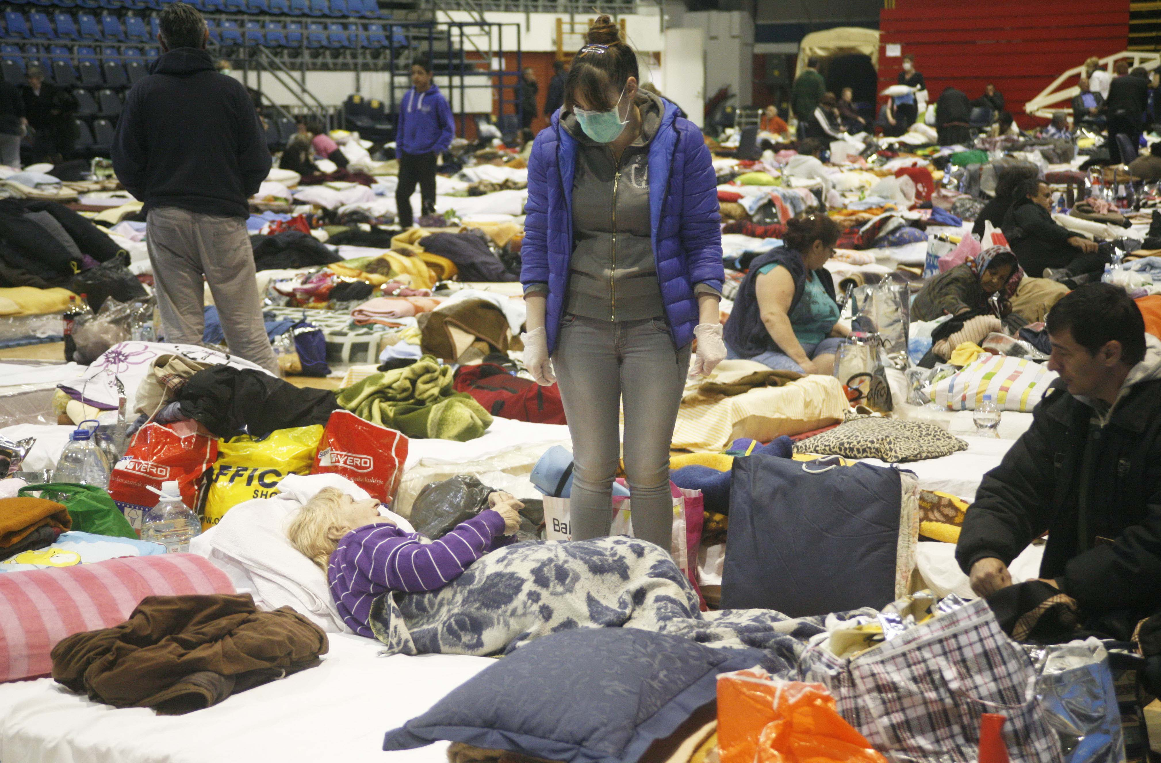 Evacuation center in Serbia, Bosnia and Herzegovina.jpg